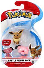 SNUBBULL & EEVEE Battle Figure Pack Series 3 Pokemon Wicked Cool Toys