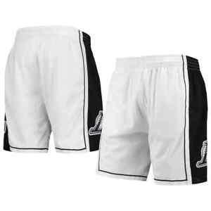 Mitchell & Ness White NBA Los Angeles Lakers White Black 09 Swingman Shorts