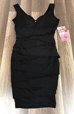 Emerald Sundae, Juniors Little Black Fitted Dress, Size Small