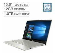 New HP Pavilion 15.6 inch Touchscreen i7-8550u 12GB RAM 1TB HDD backlit keyboard