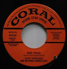 50'S & 60'S 45 Cliff Steward - Red Head / The Aba Daba Honeymoon On Coral Silver