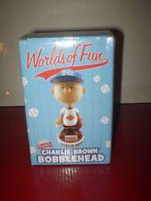 VHTF CHARLIE BROWN LIMITED EDITION BOBBLRHEAD WORLDS OF FUN BASEBALL 2011 NIB