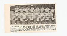 Asheboro Lucas Industries North Carolina 1947 Baseball Team Picture