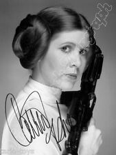 CARRIE FISHER - Leia - Star Wars print signed photo - foto autografo stampato