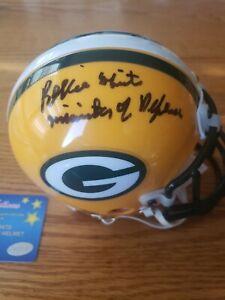 Reggie White Signed Packers Mini Helmet Inscribed Minister of Defense MM RARE