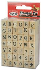 Stempel Set - komplettes ABC Großbuchstaben, Zahlen 0-9 und Satzzeichen ? ! & :
