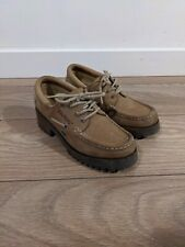 KICKERS shoes brown beige Moccasins size UK 7 eu 41 RETRO