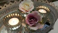 6 or 12 Antique Silver Style Tea Light Holder Candle Vintage Wedding Vase Table