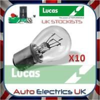 10x (TEN) PACK ORIGINAL LUCAS LLB380 12v 21/5 W BAY15D BRAKE/TAIL LIGHT BULB 380
