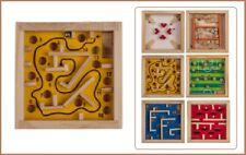 Holz Mini Reisespiele Geschicklichkeitsspiele Retro Labyrinth Gelb