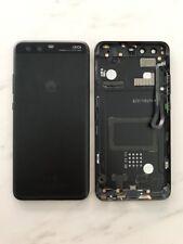 Original Huawei P10 Akkudeckel Deckel Tasten Flex Glas Linse Backcover Schwarz
