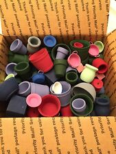 125 + LOT Base Painted Wood Crafts FLOWER POTS Bowls CANDLE CUPS Buckets Basin