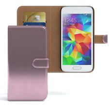 Tasche für Samsung Galaxy S5 Mini Case Wallet Schutz Hülle Cover Rosa