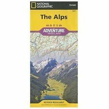 National Geographic Adventure Map: The Alps Adventure Travel Map 3321 by...
