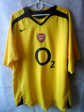 EXCELLENT!!!! 2005-06 Arsenal Away Shirt Jersey XL