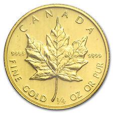 1983 Canada 1/4 oz Gold Maple Leaf BU - SKU #82820