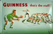 Guinness Rugby embossed metal sign (hi 3020)