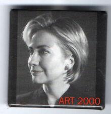 Stunning HILLARY Clinton 2008 Photo pin #3 Art 2000 NY SENATE Campaign pinback