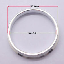 4pcs High Quality Aluminum Alloy Wheel Spacer Hub Centric Rings 67.1OD to 65.1ID