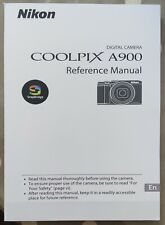 NIKON COOLPIX A900 Full Colour Manual  - Printed & Professionally Bound Size A5