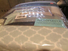 NEW QUEEN FLEECE SHEET SET FITTED SET BLUE TRELLIS CUDDL DUDS FLEECE SHEETS
