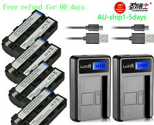 4pcs Replacement Li-ion Battery + 2XCharger for Sony NP-F550/F570/530 TK201 BYAU