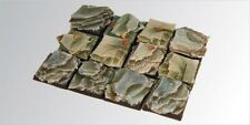 Scribor Miniatures: Rocky 25mm Square Bases (5) - SMM-BSRO0005
