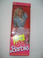 "FEELING FUN BARBIE DOLL ""Denim and Lace"" Crimped Hair Vintage 1988 NRFB"