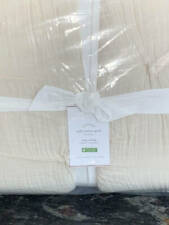 New~Pottery Barn Soft Cotton Handcrafted Quilt~KING~Natural