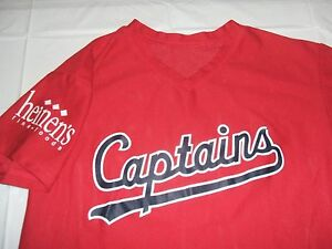 Lake County Captains Red Promo Jersey Medium  Polyester Cleveland Indians MiLB