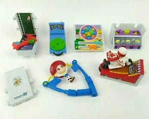 Disney Toy Story 4 Movie McDonald's Happy Meal Toys 7 Collectible Items Loose