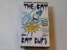 The Original 1926 Motion Picture The Bat Plus...Bat Clips VHS Video Tape 2 Tapes