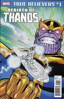 Rebirth of Thanos Comic Issue 1 Classic Reprint True Believers 2018 Starlin Lim