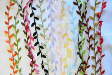 LEAF GARLAND Pack Satin 1 Metre Each of 16 Colours 25-30mm Across CRD9/10