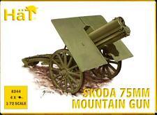 HaT Models 1/72 AUSTRIAN World War I SKODA 75mm MOUNTAIN GUN Set of 4