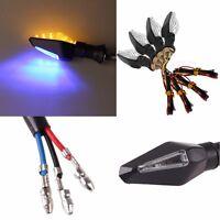 4 Pcs Amber 12 LED Motorcycle Turn Signal Indicator Blinker Light Lamp Flasher