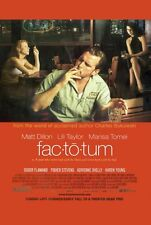 FACTOTUM Movie POSTER 27x40 Matt Dillon Lili Taylor Fisher Stevens Marisa Tomei