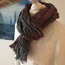 👜 Orig. Burberry Crinkle scarf Schal grau/ rosa NEUw! rare 👜