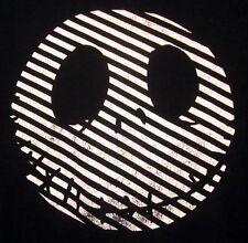 NIGHTMARE BEFORE CHRISTMAS med T shirt goth Jack Skellington tee 2-tone skull