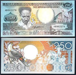Billet banque banknote SURINAME SURINAM 250 gulden 1988 état *****