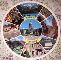 Vintage Colorful Colorado - Plastic Souvenir Plate