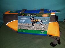 New Top Paw Dog Orange Life Jacket For Large Dogs 40-70 Lbs