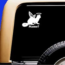 Ferret Memorial Angel Decal Pet Car Sticker Add Name Truck RV Weasel