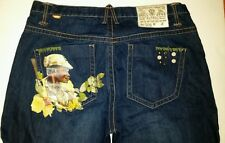 AKDMKS Akademiks Straight Leg Denim Jeans Small Arms Patrol Mens Size 38 x 33