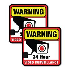 Security Camera Surveillance CCTV 24 Hours Safety Stickers Decal