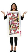 Womens Queen Of Hearts Playing Cards Casino Hen Do Fancy Dress Costume Outfit