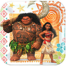 MOANA SMALL PAPER PLATES (8) ~ Birthday Party Supplies Cake Dessert Disney Maui