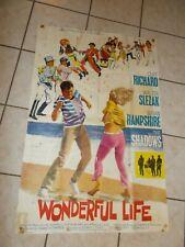 Vintage 1964 CLIFF RICHARD Wonderful Life UK MOVIE Poster Original THE SHADOWS