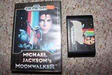 Michael Jackson's Moonwalker (Sega Genesis) with Case FRC