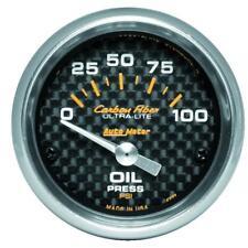 "AUTO METER ULTRA LITE CARBON FIBER ELECTRIC OIL PRESSURE GAUGE 52MM 2-1/16"""